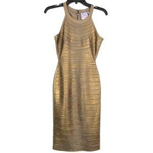 157387b8 Herve Leger Dresses - Herve Leger Renata Woodgrain Foil Print Dress